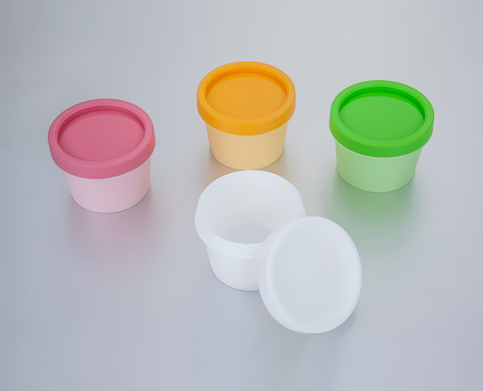 50g pink yellow green plastic cream jars